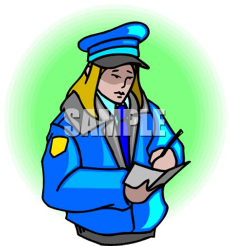 Police report and writing
